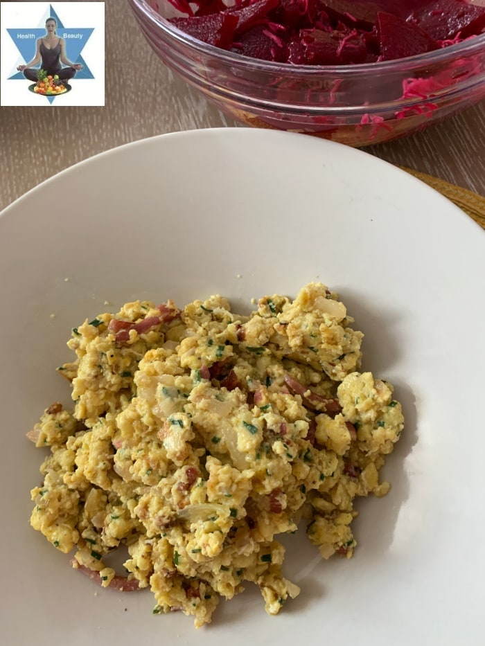 Eiernockerl mit roten Rüben Salat