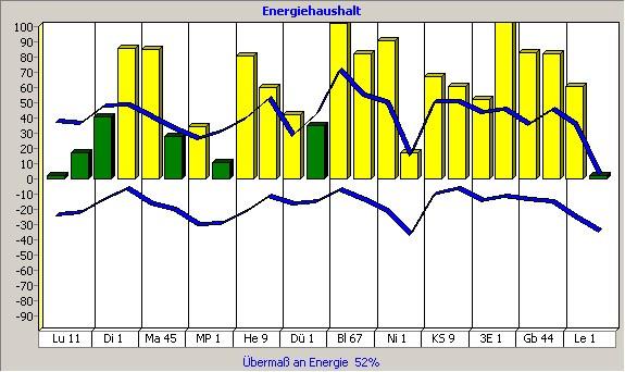 Energiestatus Hinweis auf Übersäuerung, Entzündungen, Hitze