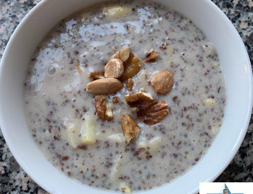 Leinsamen-Chia-Hafer-Porridge