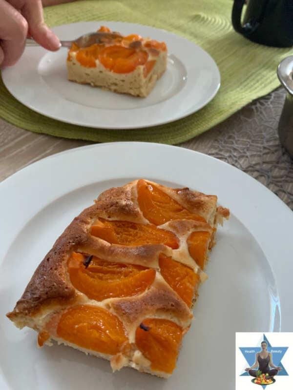 Marillenkuchen Low Carb ketogen Aprikosenkuchen