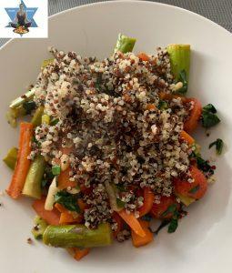 Spargel Karotten Gemüse Quinoa
